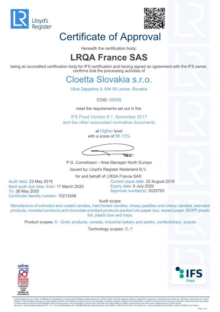 IFS certificate engl.1